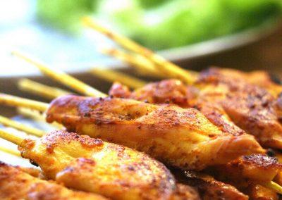 Gai Satay (Kyckling med jordnötsås på thai-vis)