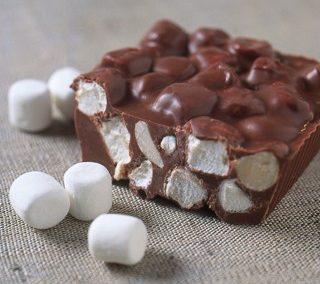 Macadamia och marshmallows choklad